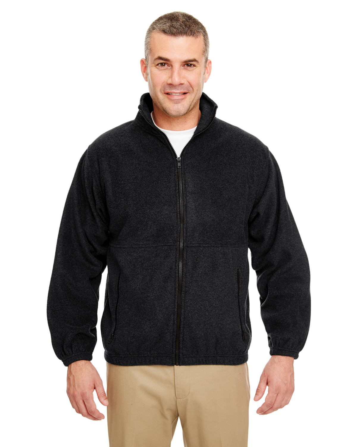 UltraClub 8485 Men Iceberg Fleece Full Zip Jacket at GotApparel