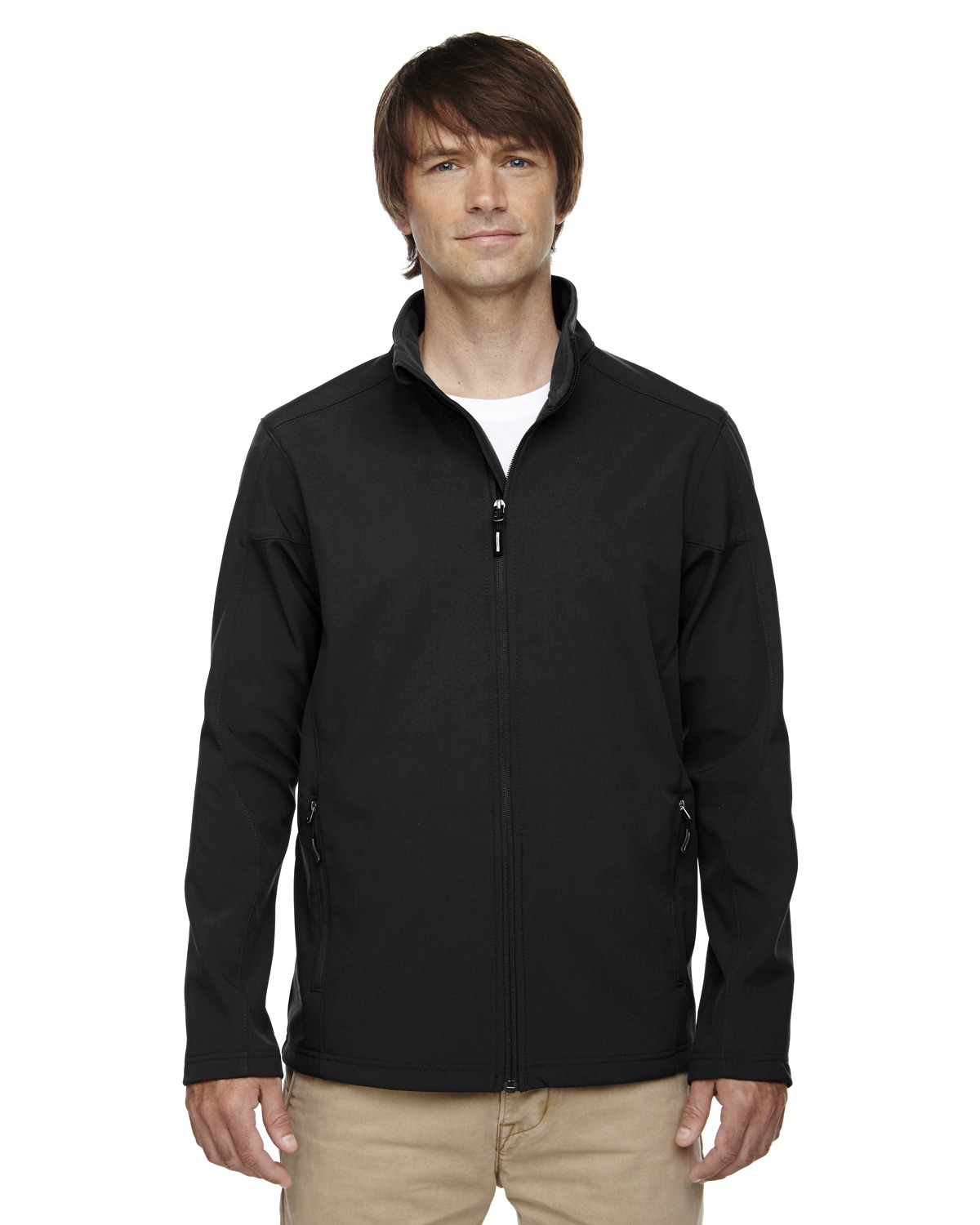 Core 365 88184T Men Tall Cruise TwoLayer Fleece Bonded Soft Shell Jacket at GotApparel