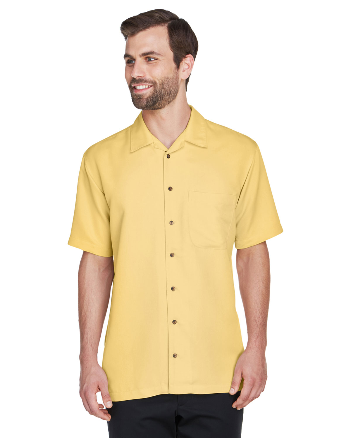 yellow dress short sleeve camp
