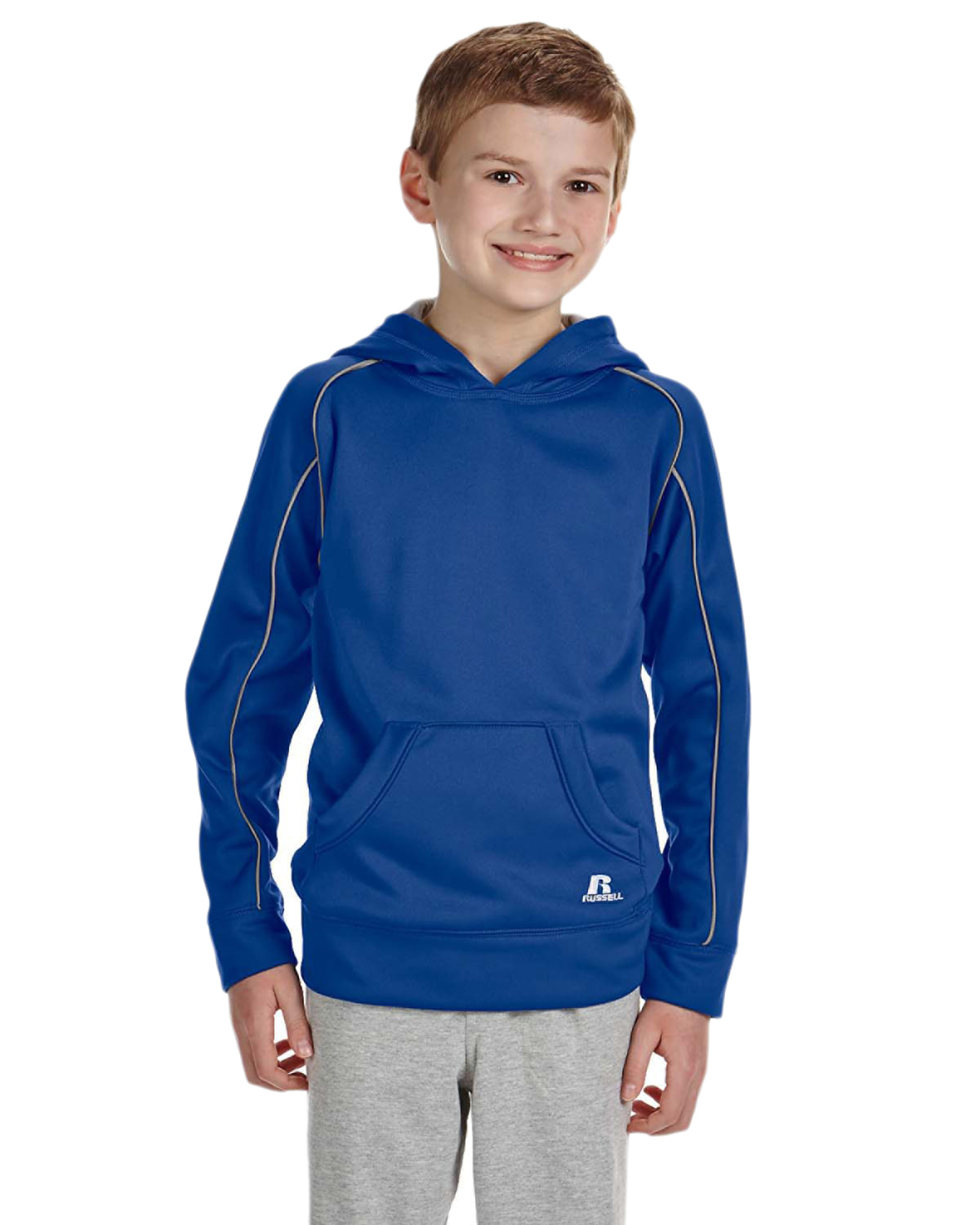 Russell Athletic 955EFB Boys Tech Fleece Pullover Hood at GotApparel