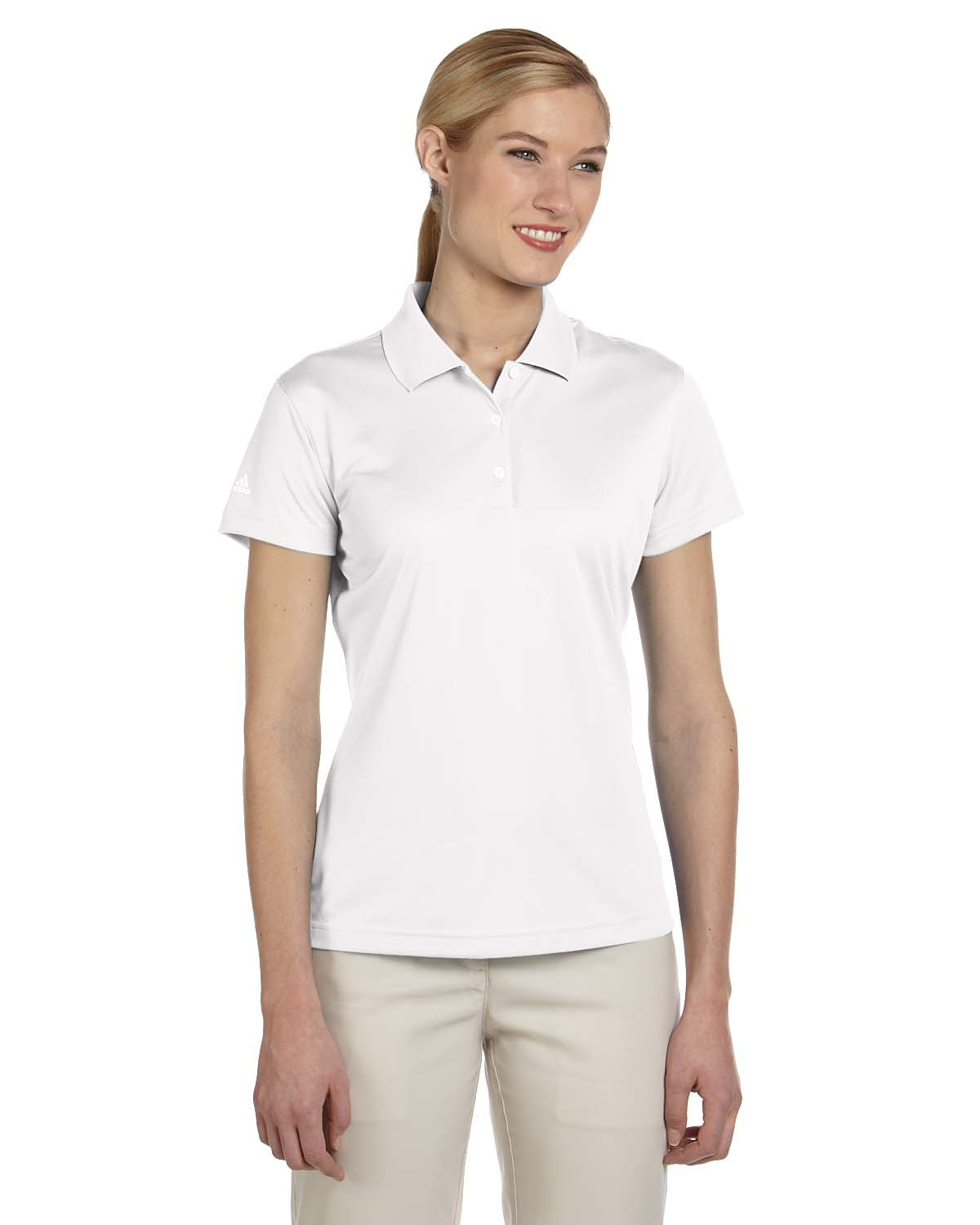 Adidas Golf A131 Women's climalite® Basic Short-Sleeve Polo at GotApparel
