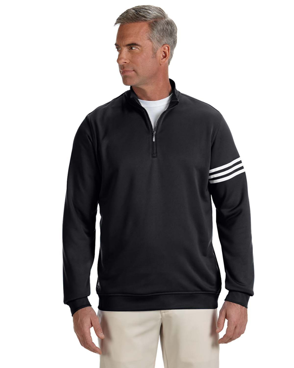Adidas A190 Men climalite 3-Stripes Pullover at GotApparel