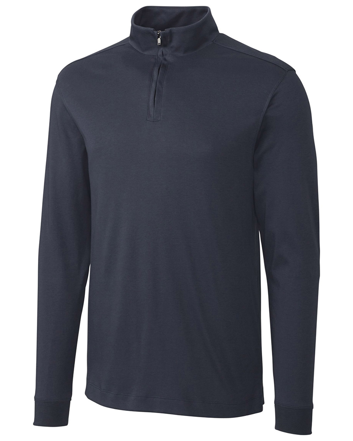 Cutter & Buck BCK00973 Men Long Sleeve Pima Belfair Zip Mock at GotApparel