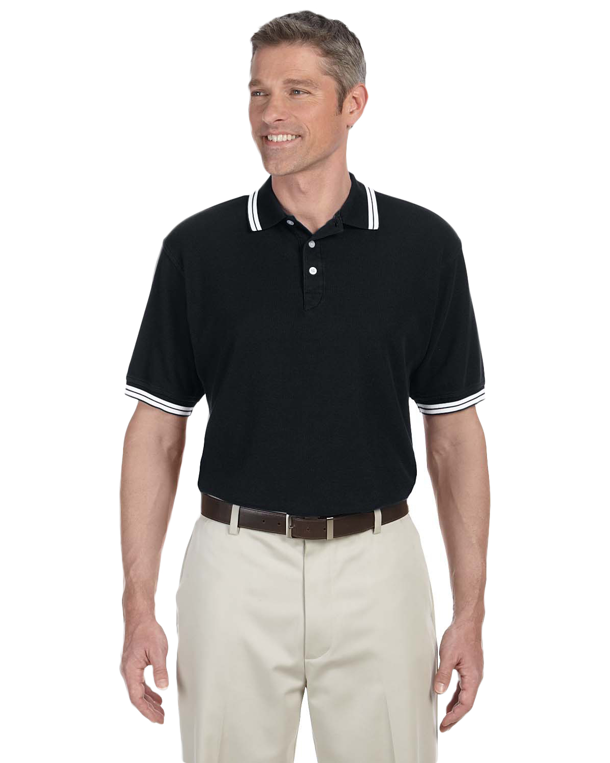 Chestnut Hill CH113 Men Tipped Performance Plus Pique Polo at GotApparel