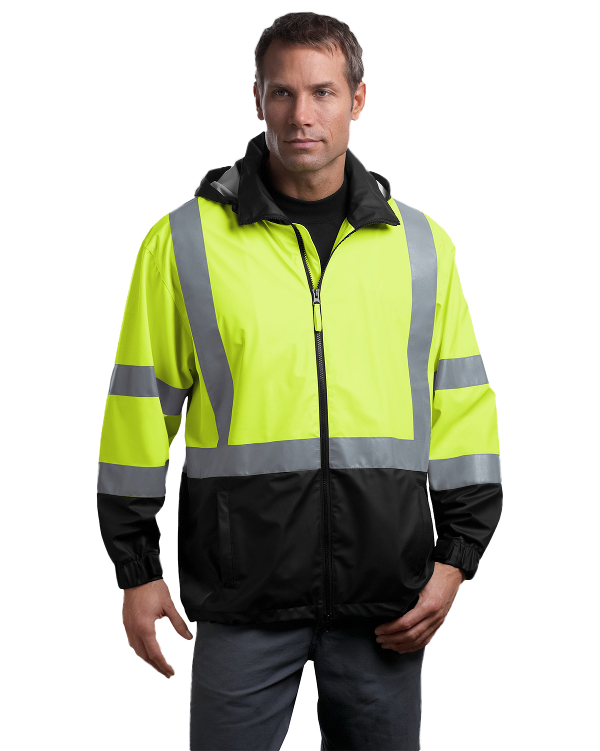 CornerStone® CSJ25 Men's ANSI 107 Class 3 Safety Windbreaker at GotApparel