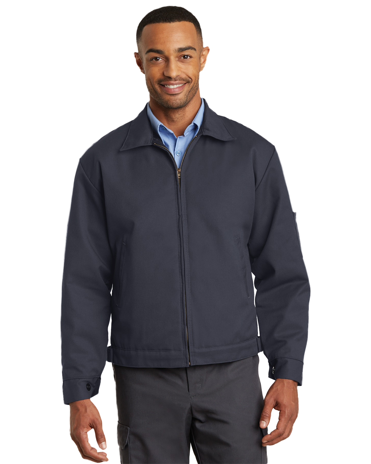 Red Kap CSJT22 Men's Slash Pocket Jacket at GotApparel