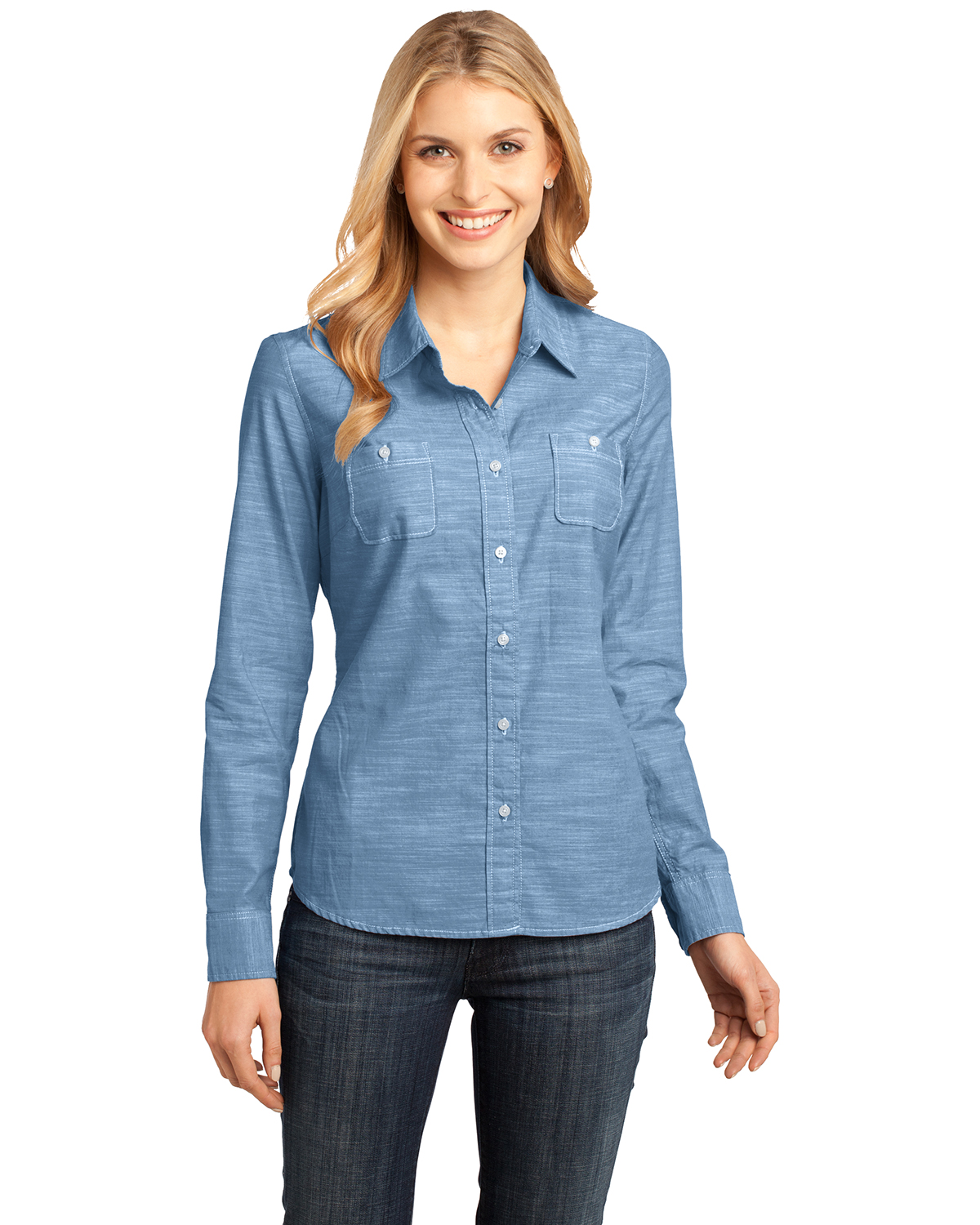 district dm4800 women 39 s made long sleeve washed woven