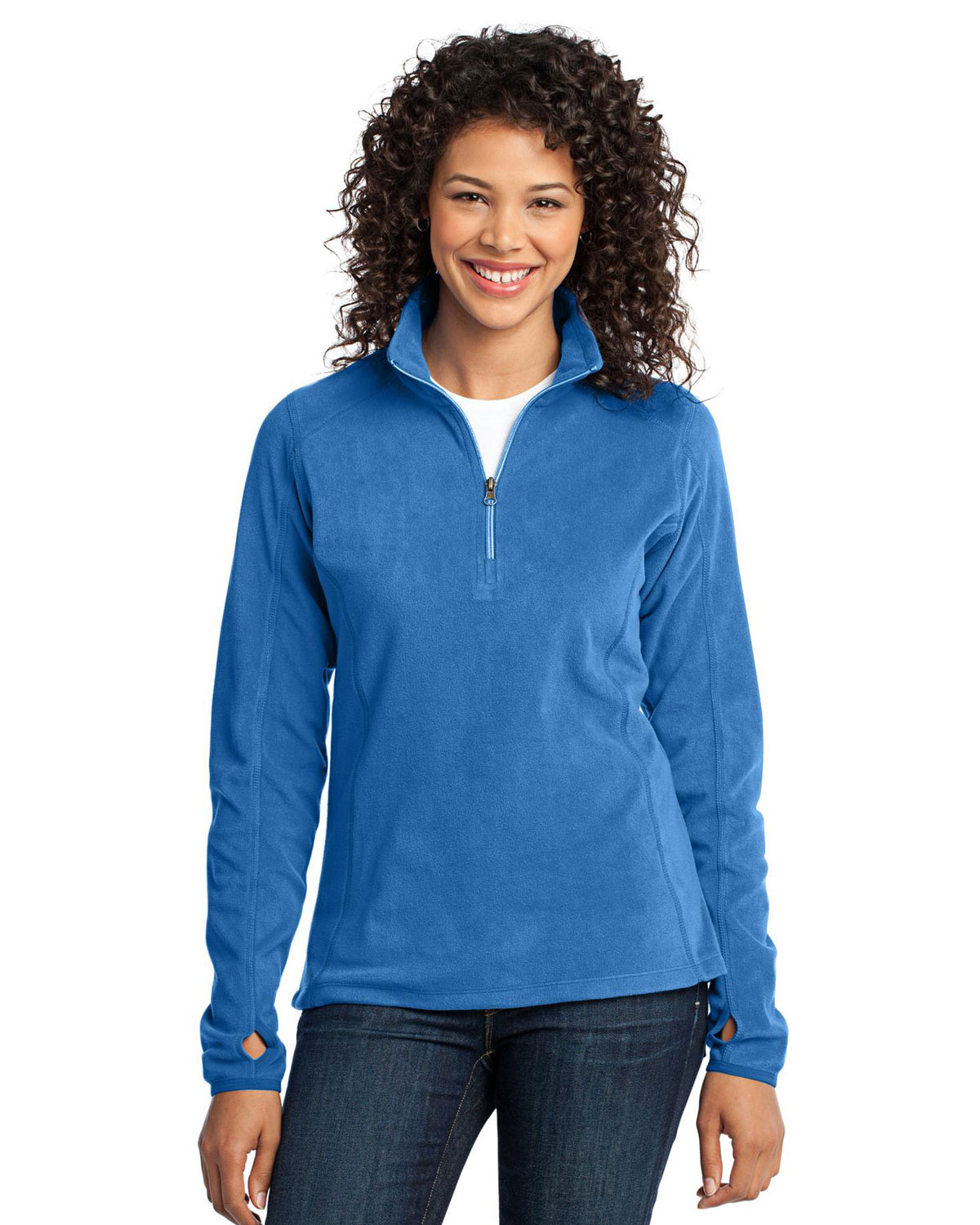 Port Authority L224 Women Microfleece 1/2-Zip Pullover at GotApparel