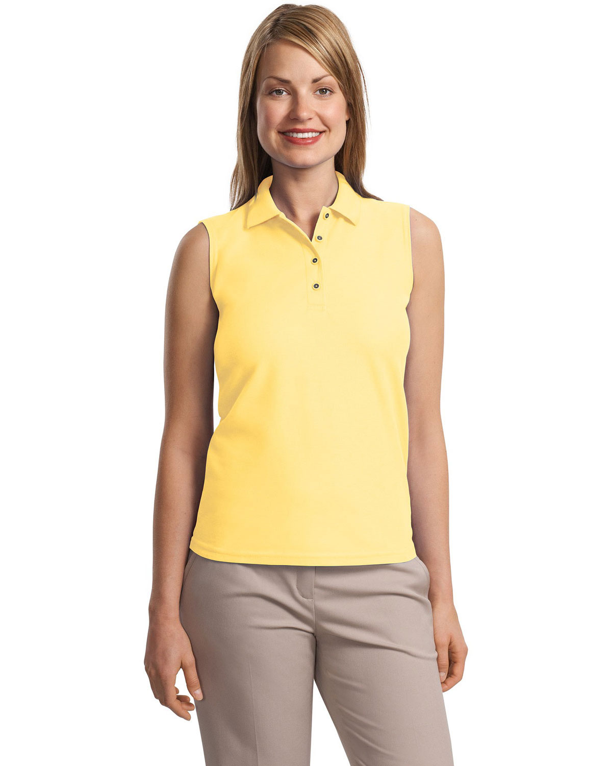 Port Authority L500SVLS Women Silk Touch™ Sleeveless Polo at GotApparel