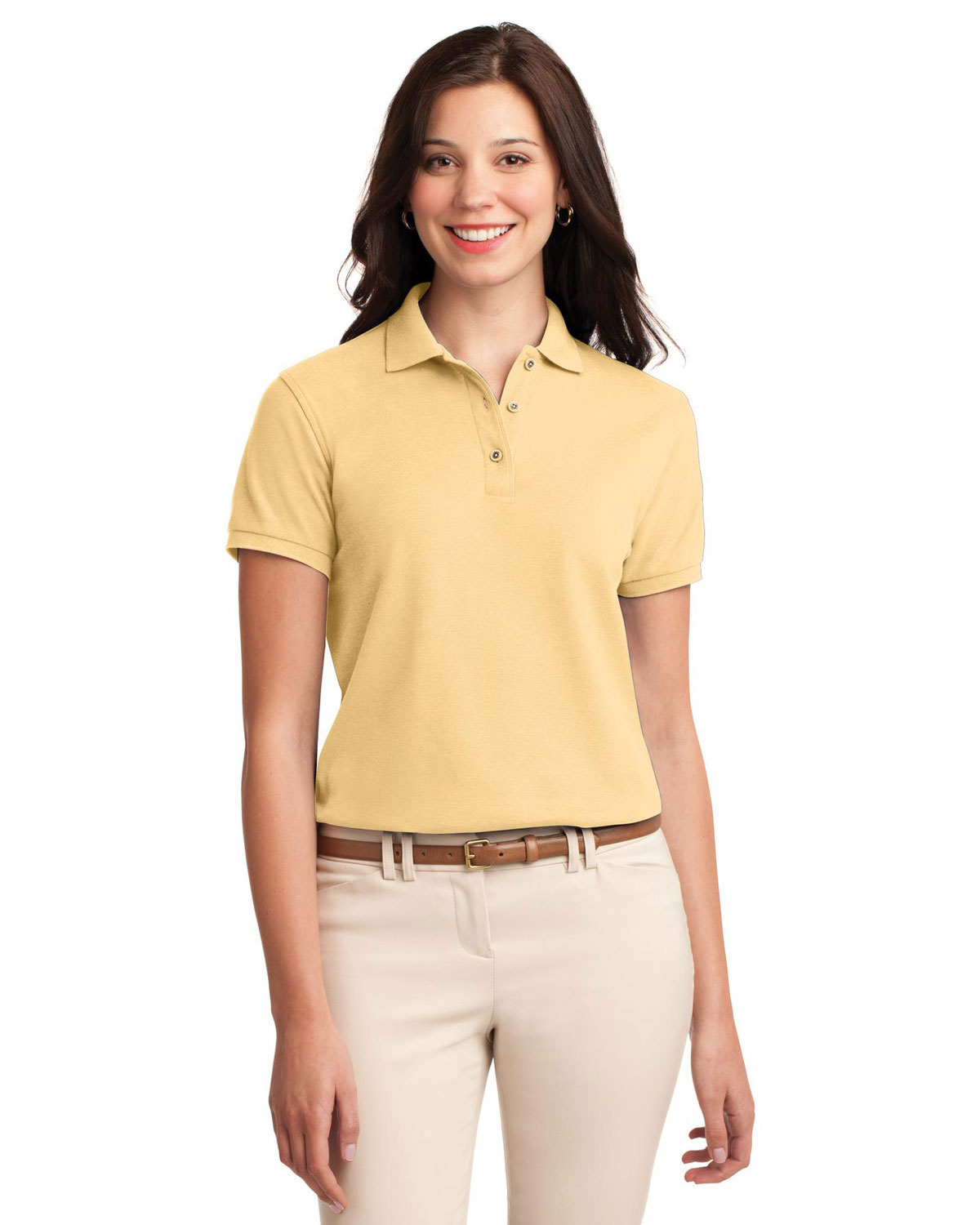 Port Authority L500 Women Silk Touch™ Polo at GotApparel