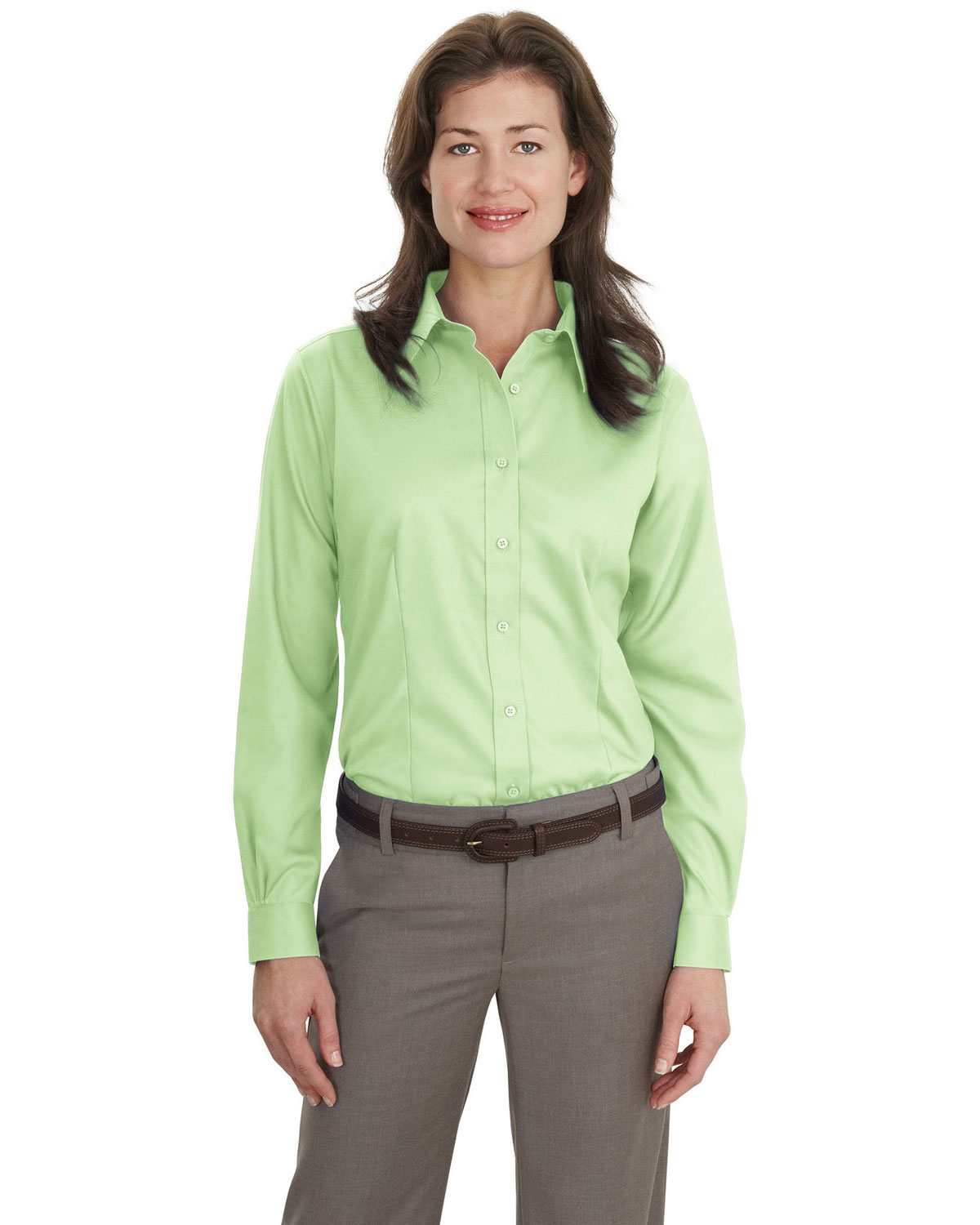 Port Authority L638 Women Long Sleeve Non-Iron Twill Shirt at GotApparel