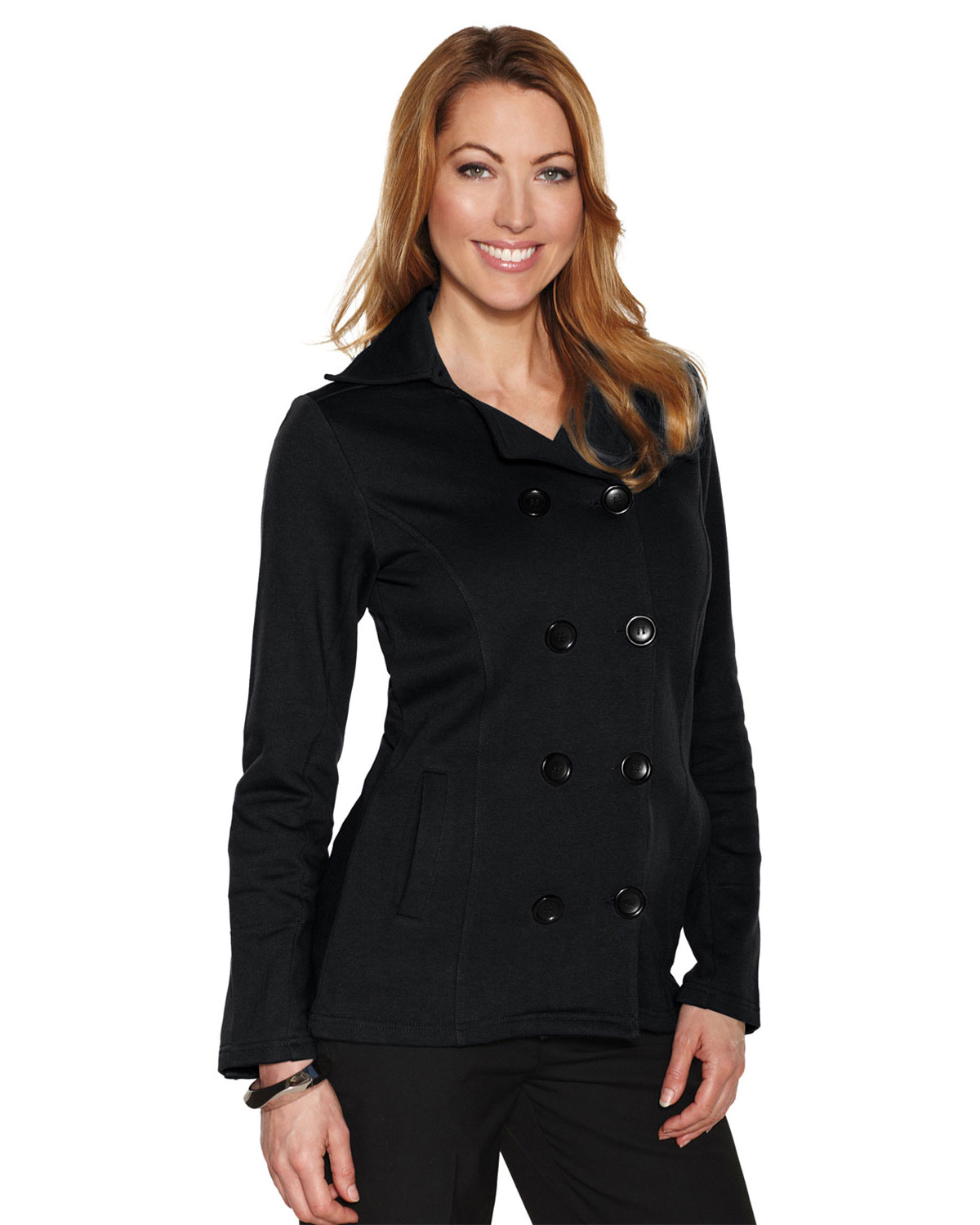 LILAC BLOOM LB677 Women Riley Fleece Peacoat at GotApparel