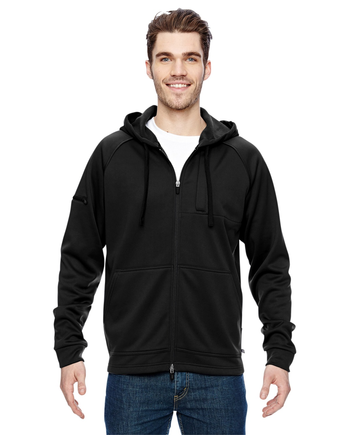 Dickies LJ536 Men's 7.4 oz. Tactical Full Zip Fleece Jacket at GotApparel