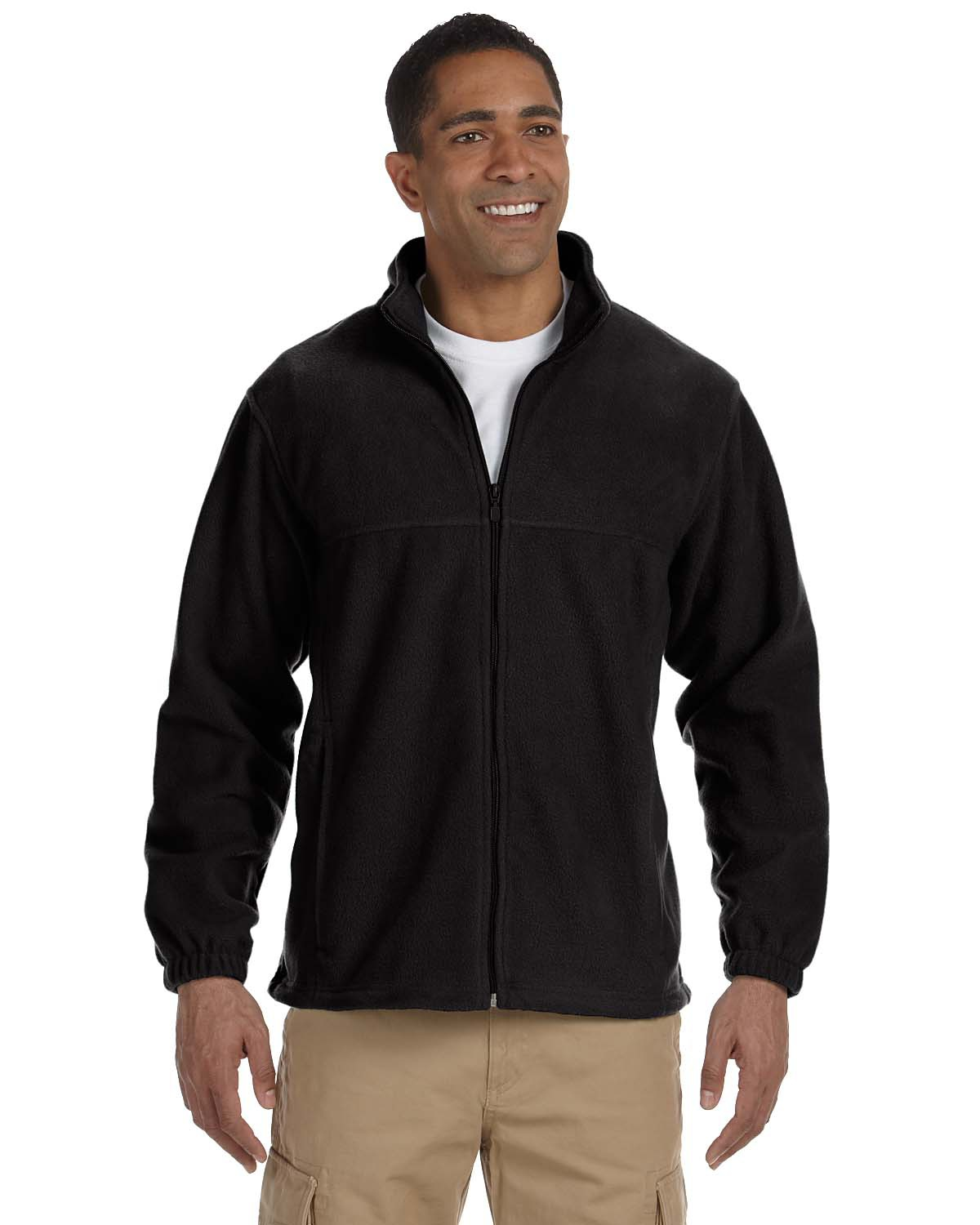 Harriton M990 Men 8 oz. Full Zip Fleece at GotApparel