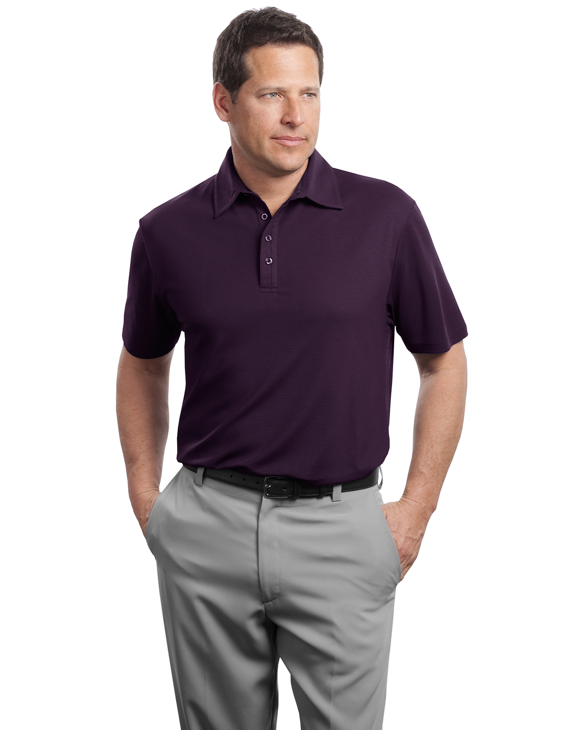 Red House RH49 Adult Contrast Stitch Performance Pique Polo at GotApparel