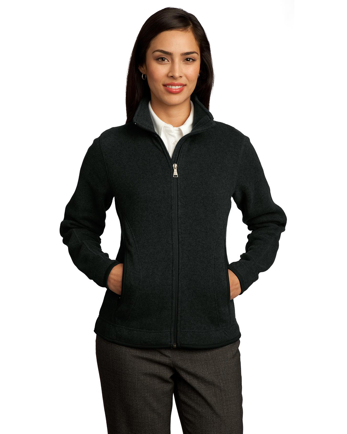 Red House RH55 Women Sweater Fleece Full Zip Jacket at GotApparel