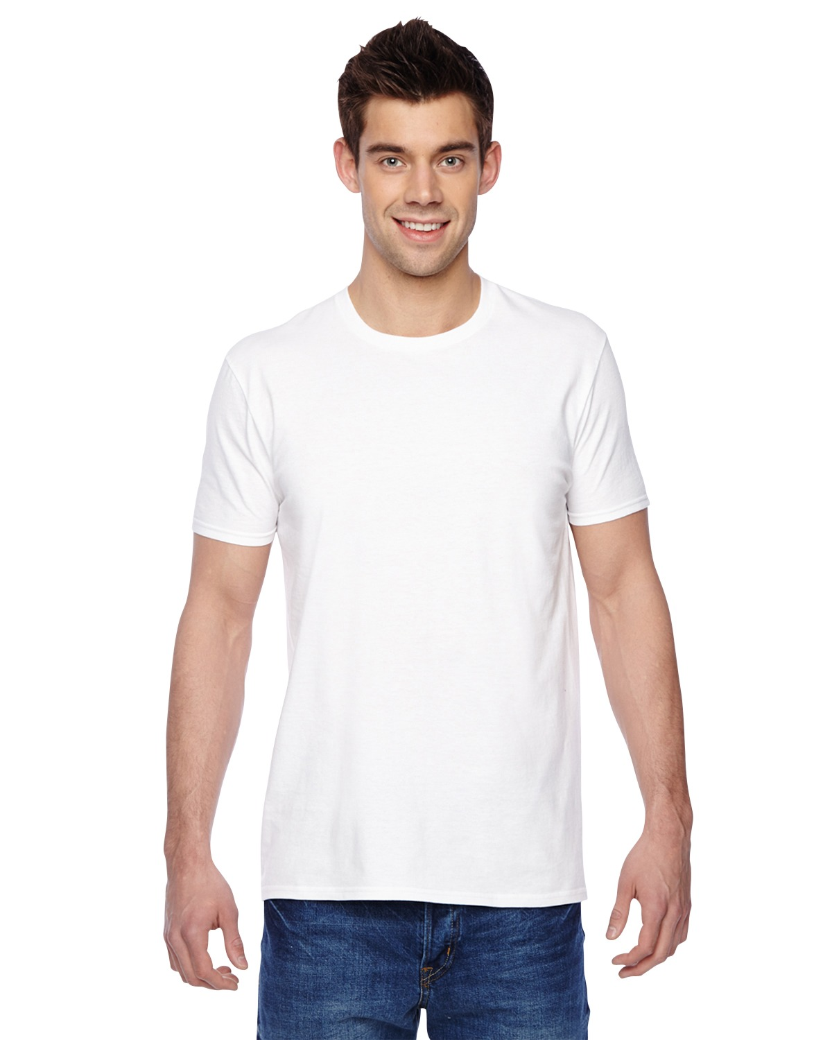 Fruit of the Loom SF45R Men 4.7 oz., 100% Sofspun Cotton Jersey Crew T-Shirt at GotApparel