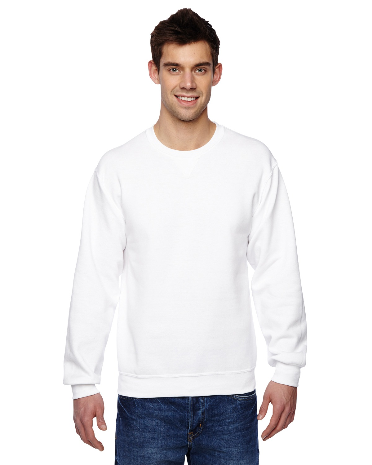 Fruit of the Loom SF72R Adult 7.2 oz. Sofspun Crewneck Sweatshirt at GotApparel
