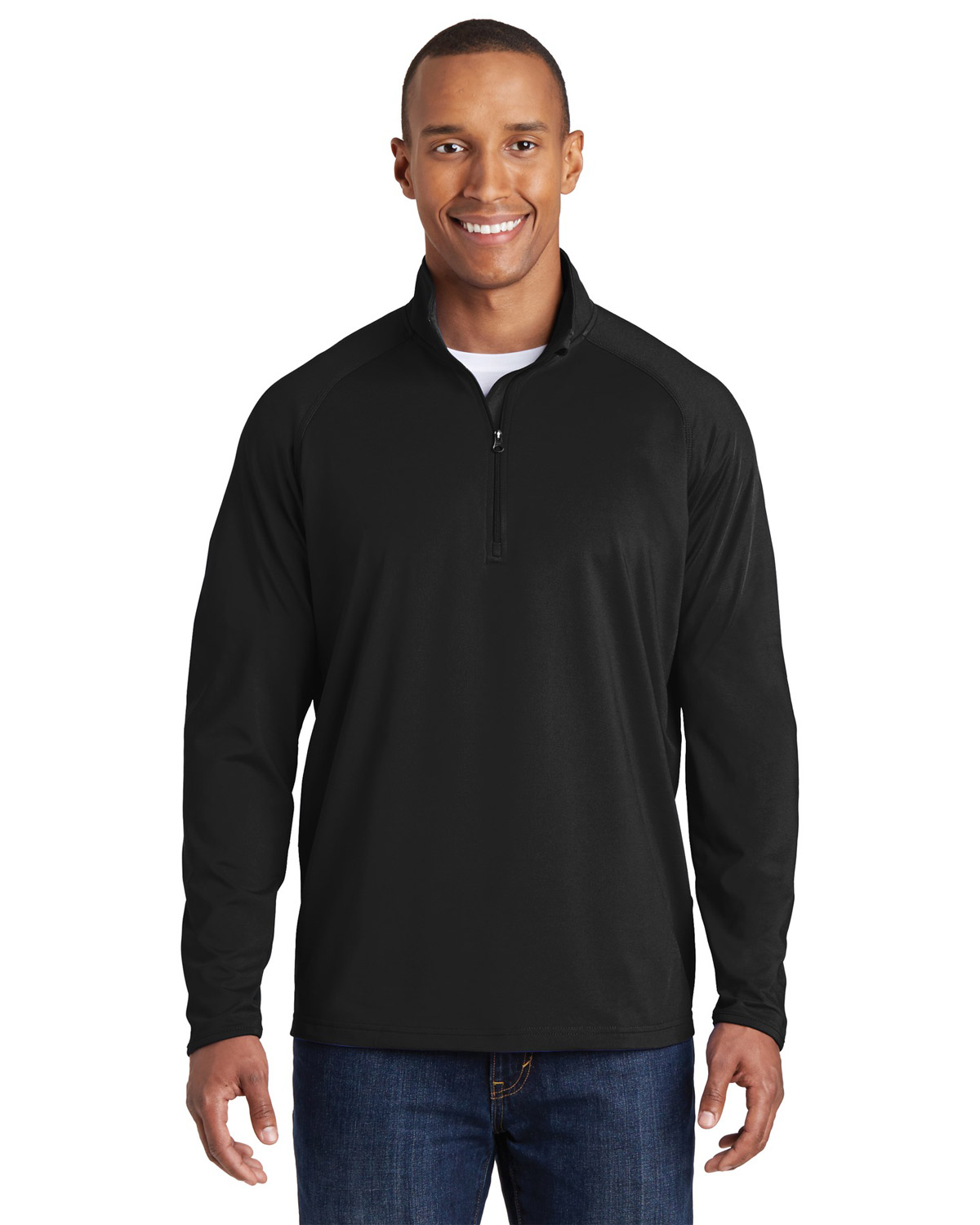 Sport-Tek ST850 Men Sport-Wick® Stretch 1/2Zip Pullover at GotApparel