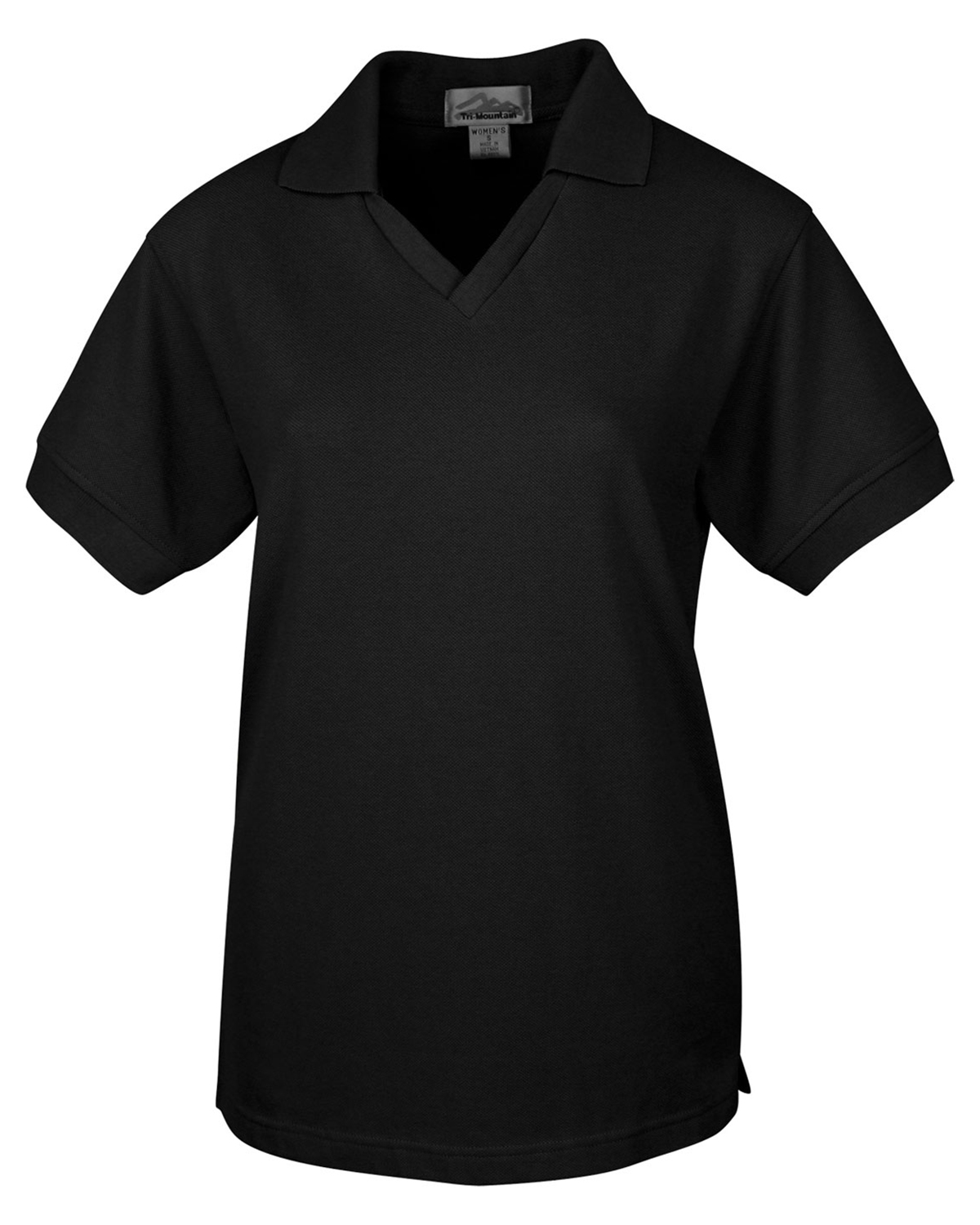 Tri-Mountain 101 Women Venice V-Neck Pique Short Sleeve Golf Shirt at GotApparel