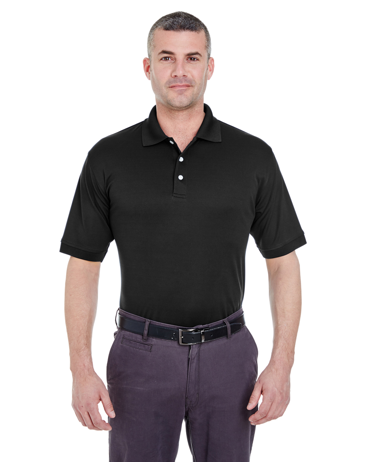 UltraClub 8315 Men Platinum Performance Pique Polo with Temp Control Technology at GotApparel