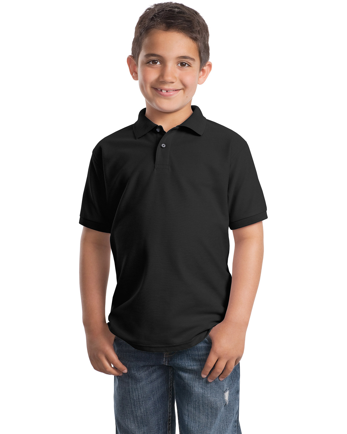 Port Authority Y500 Boys Silk Touch™ Polo at GotApparel