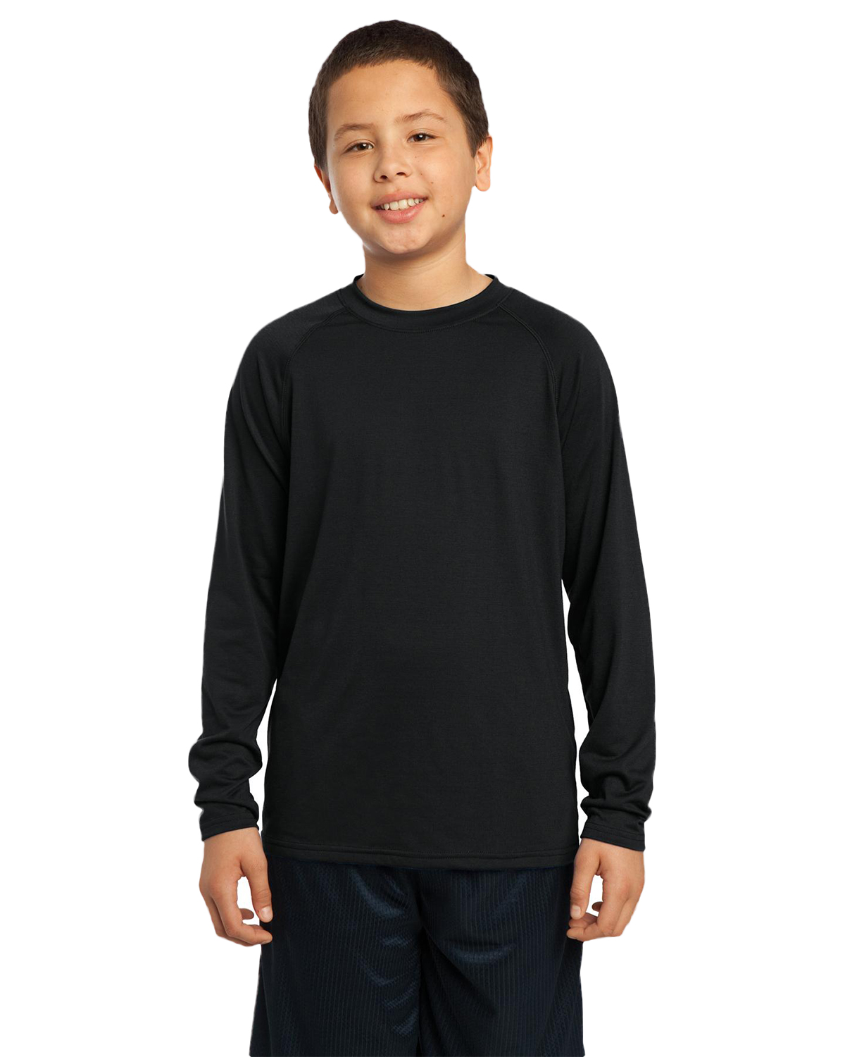 Sport-Tek YST700LS Boys Long Sleeve Ultimate Performance Crew at GotApparel