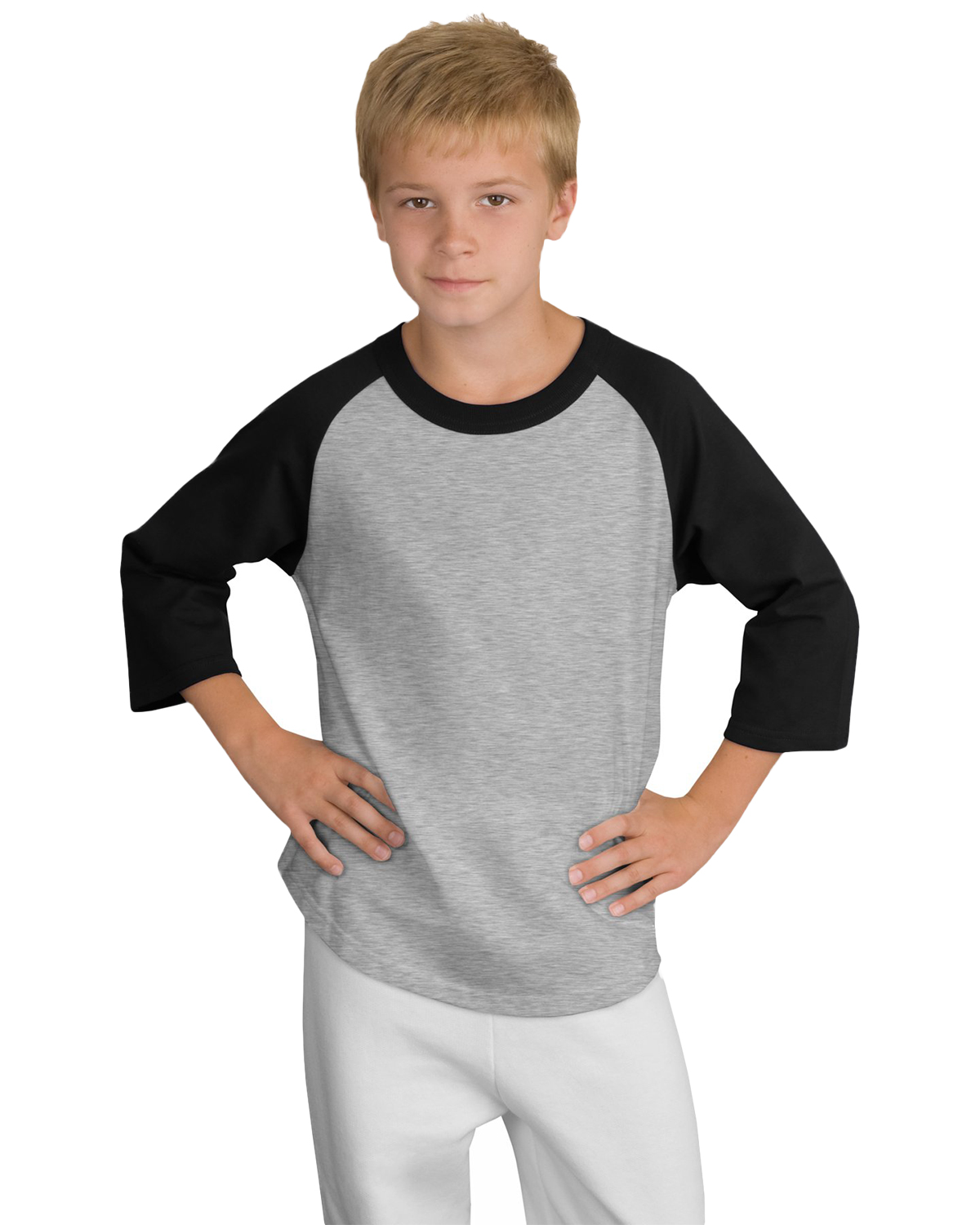 Sport-Tek YT200 Boys Colorblock Raglan Jersey at GotApparel