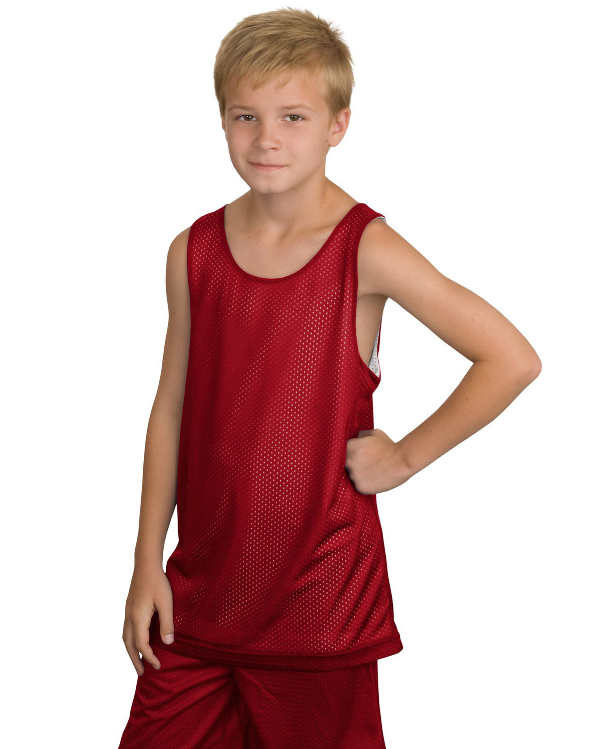 Sport-Tek YT500 Boys Reversible Mesh Tank at GotApparel