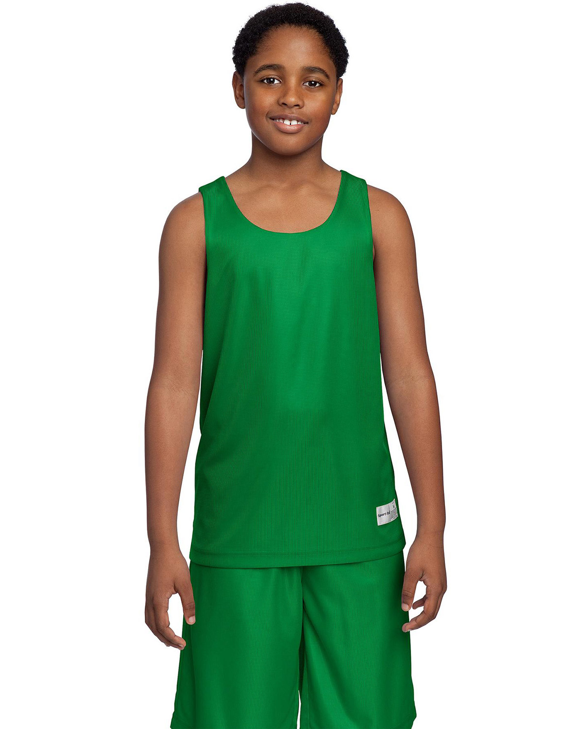 Sport-Tek YT550 Boys PosiCharge Mesh Reversible Tank at GotApparel