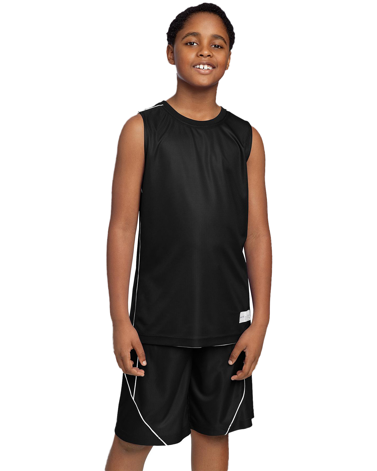 Sport-Tek YT555 Boys PosiCharge™ Mesh Reversible Sleeveless Tee at GotApparel