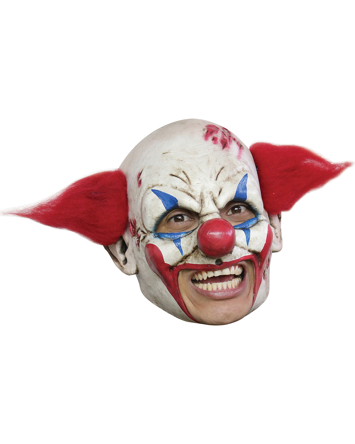 Halloween Costumes TB27530  CLOWN DLX CHINLESS MASK RED HA at GotApparel