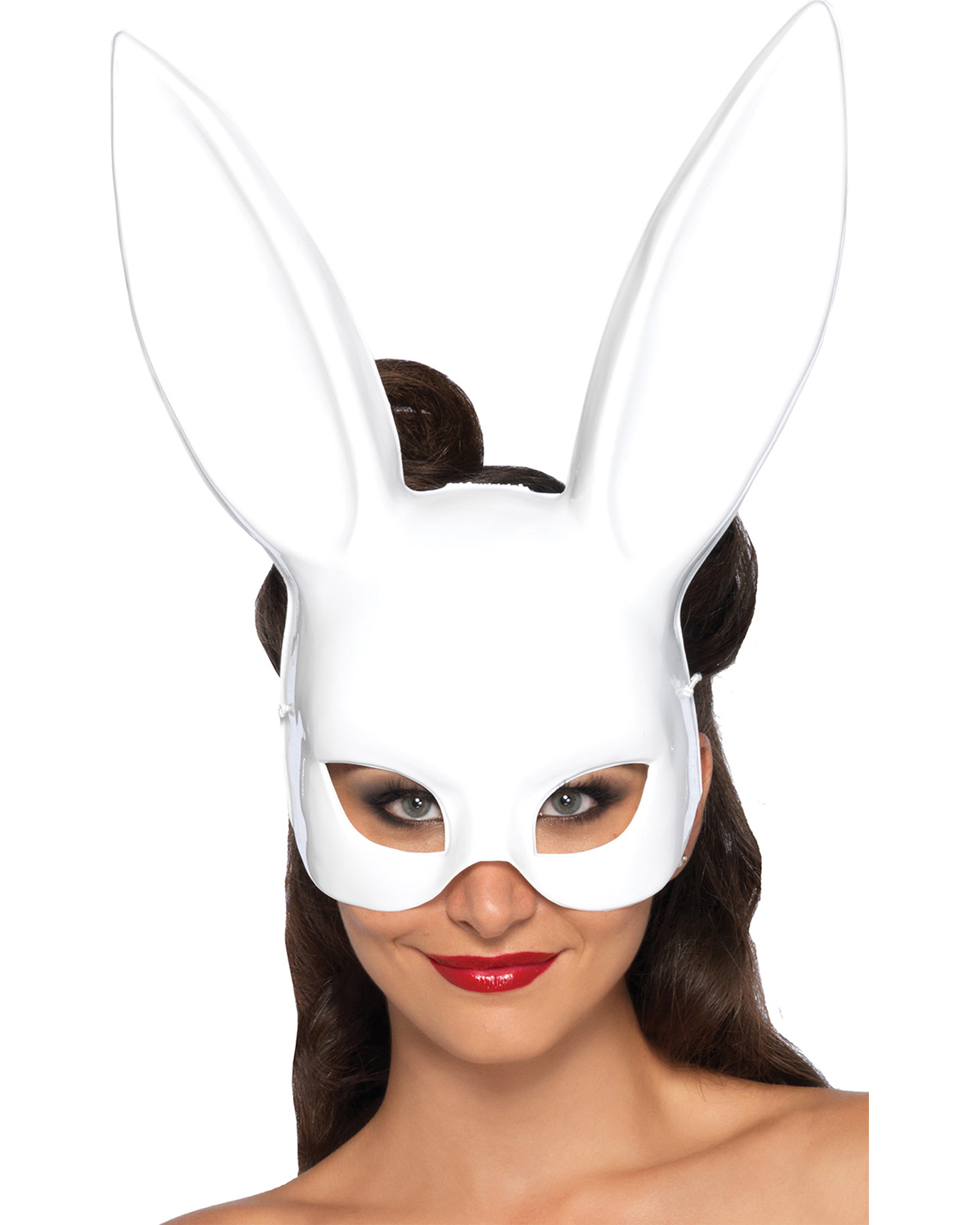 Halloween Costumes UA2628WT  MASK RABBIT WHITE at GotApparel