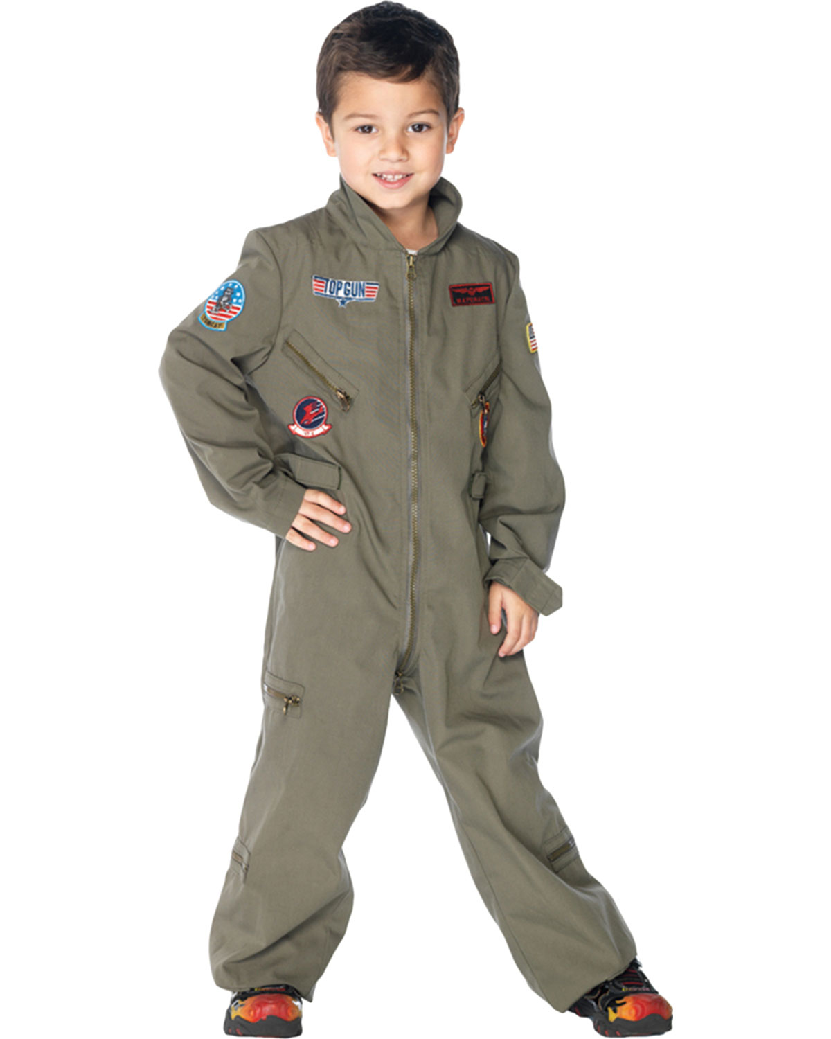 Halloween Costumes UATG48164XS Top Gun Flight Suit Child Xs at GotApparel