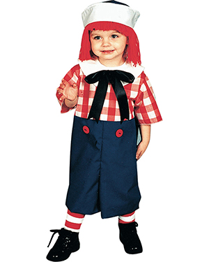 Halloween Costumes 12113 Toddlers Raggedy Andy 2 To 4 at GotApparel