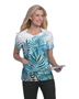 Landau 4123 Women Sweetheart Crossover Top