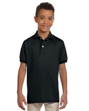 Jerzees 437Y Boys 50/50 Jersey Polo With Spotshield