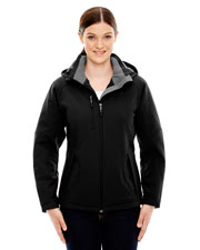 North End 78080 Women Glacier Insulated Three-Layer Fleece Bonded Soft Shell Jacket With Detachable Hood
