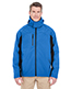 Ultraclub 8290 Men Color Block 3-In-1 Systems Hooded Soft Shell Jacket