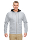 Ultraclub 8463 Men Rugged Wear Thermal-Lined Full-Zip Hooded Fleece