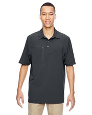 North End 85120 Men Excursion Crosscheck Performance Woven Polo