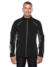 North End 88678 Men Pursuit Three-Layer Light Bonded Hybrid Soft Shell Jacket With Laser Perforation