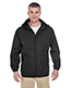 Ultraclub 8908 Men Microfiber Full-Zip Hooded Jacket