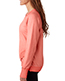 J America J8666 Women Oasis Wash Crisscross V-Neck Fleece