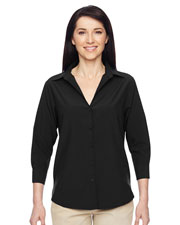 Harriton M610W Women Paradise Three-Quarter Sleeve Performance Shirt