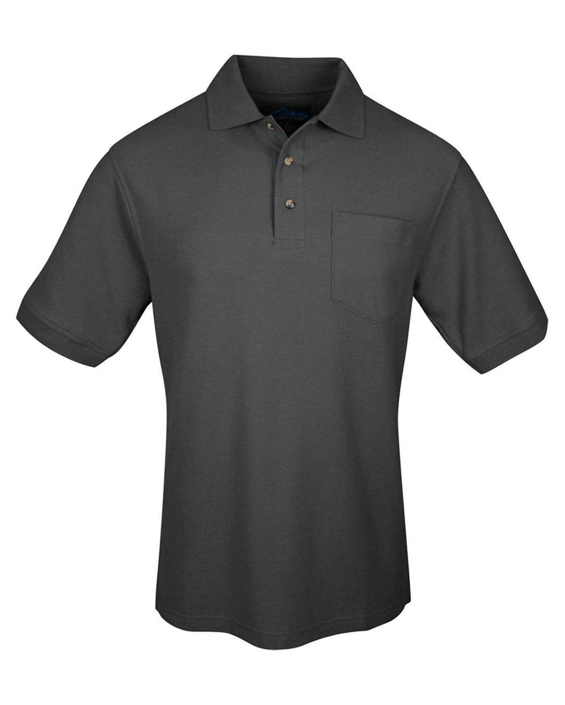 Tri-Mountain Men's 100% Cotton Buttons Placket Chest Pocket Polo T ...