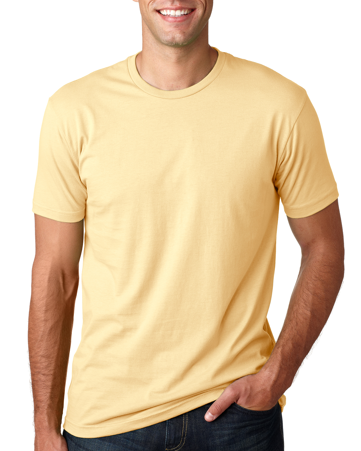 Next Level Apparel Premium Crew Neck T-Shirt Mens Soft Fitted Basic Tee 3600
