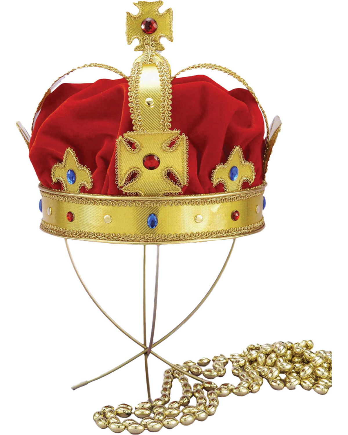 Morris Costumes Women/'s Medieval Queen Plastic Gold Crown Adult EL290224