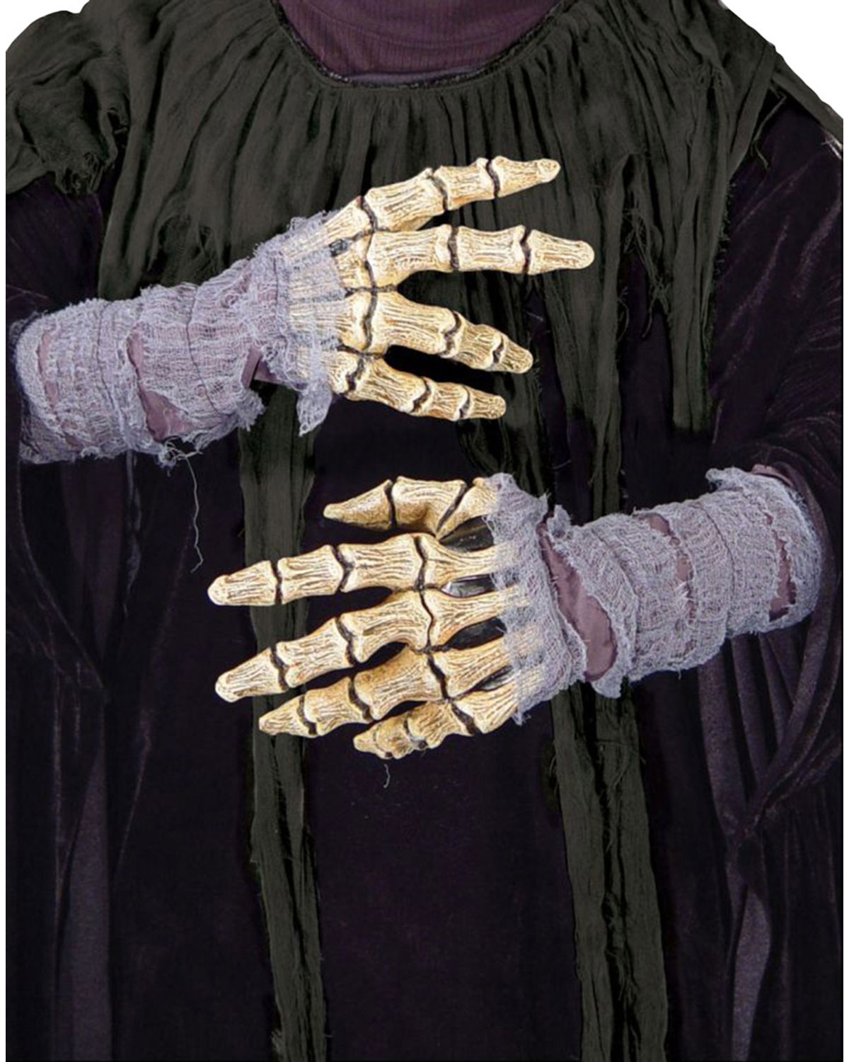 MR156001 Morris Costumes Unique Creepy Latex Open Palm Design Hands Bones