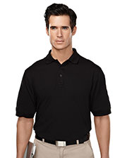 Tri-Mountain 014 Men's Sentinel Professional Button Down Casual Polo Shirt With Pen Pocket at GotApparel